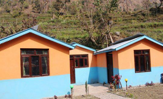 बाबियाचौरमा भूकम्प प्रतिरोधी घर